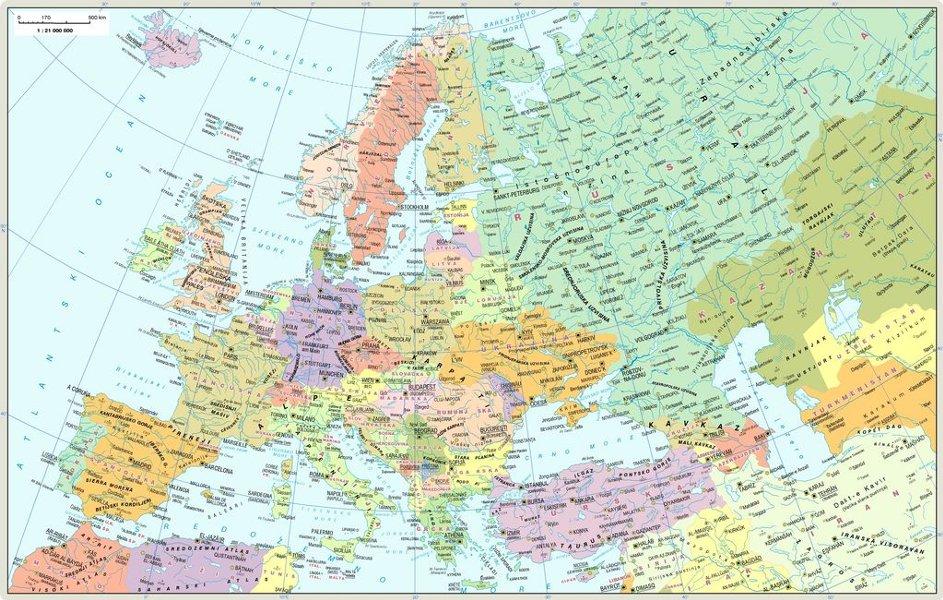 Geografska Karta Jugoistocne Evrope Superjoden