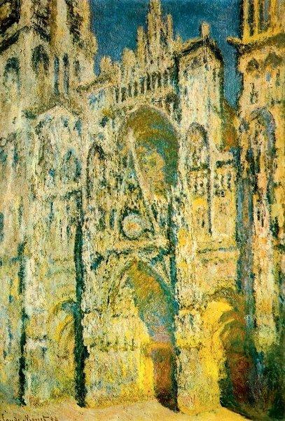 Slikovni rezultat za monet katedrala u rouenu
