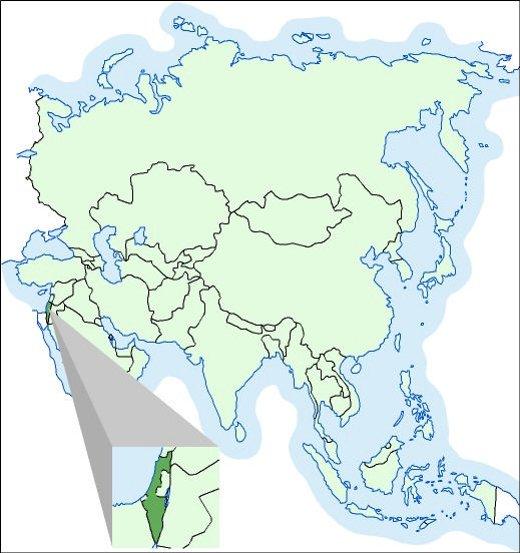 nema karta azije Izrael | Hrvatska enciklopedija nema karta azije
